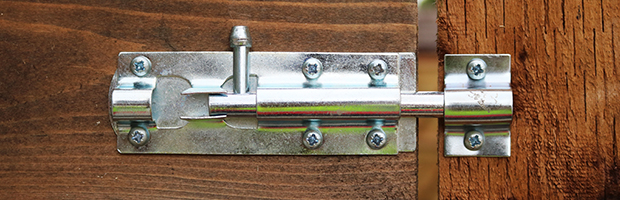 4/'/' Black//Silver Tower Bolt Door Shed Gate Lock Powder Coated Finish With Screws